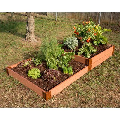 Frame It All 8 Ft X 4 Ft Manufactured Wood Raised Garden Planter