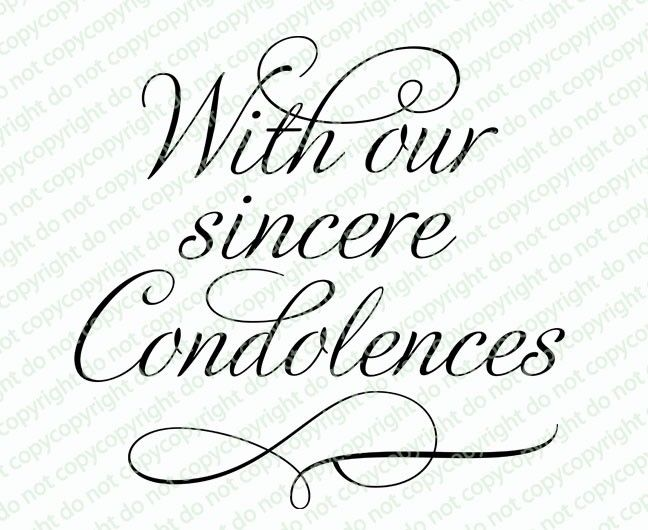 With Our Condolences Word Art - Celebration Templates - condolence template