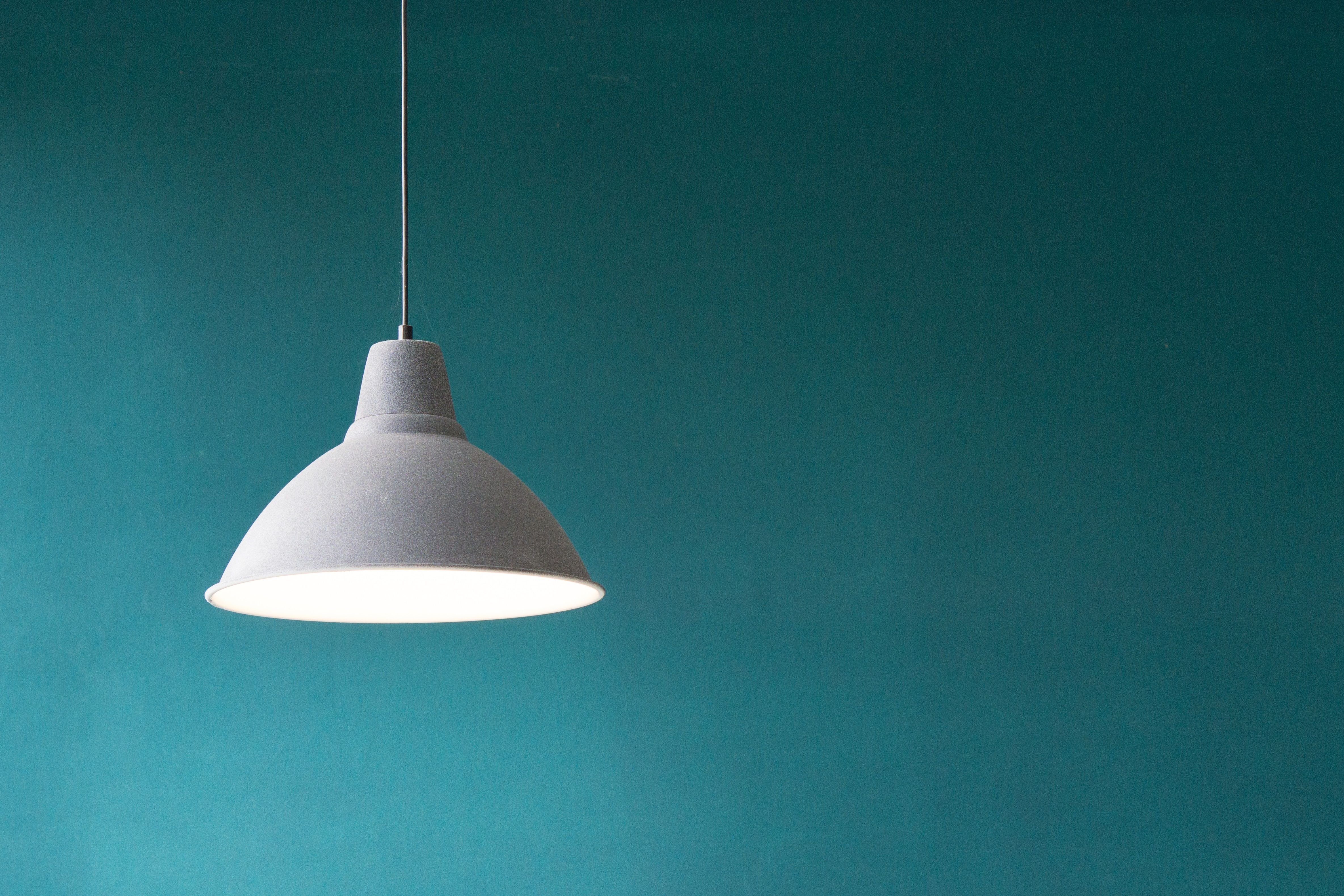 Lamp hanging from the ceiling