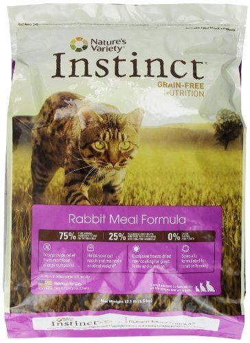 Instinct Grain Free Rabbit Meal Dry Cat Food By Nature S Variety 12 1 Pound Package 769949603818 Grain Free Kibble No Fi Dry Cat Food Free Rabbits Cat Food
