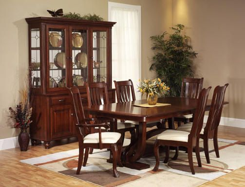 Cherry Wood Rooms | Solid Wood Amish Dining Suites, Hampton Dining Room Set,  Cherry Dining .