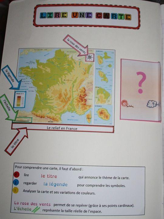 lire une carte ce2 Cahiers interactifs | Géographie ce2, Sciences ce2 et Géographie