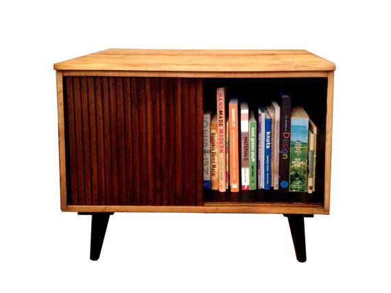 Record Player And Record Storage Table Night By Thinkwithoutthebox,  Available On Etsy