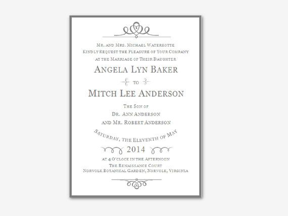 Editable Microsoft Word Floral Wedding Invitation by Digidigi ...