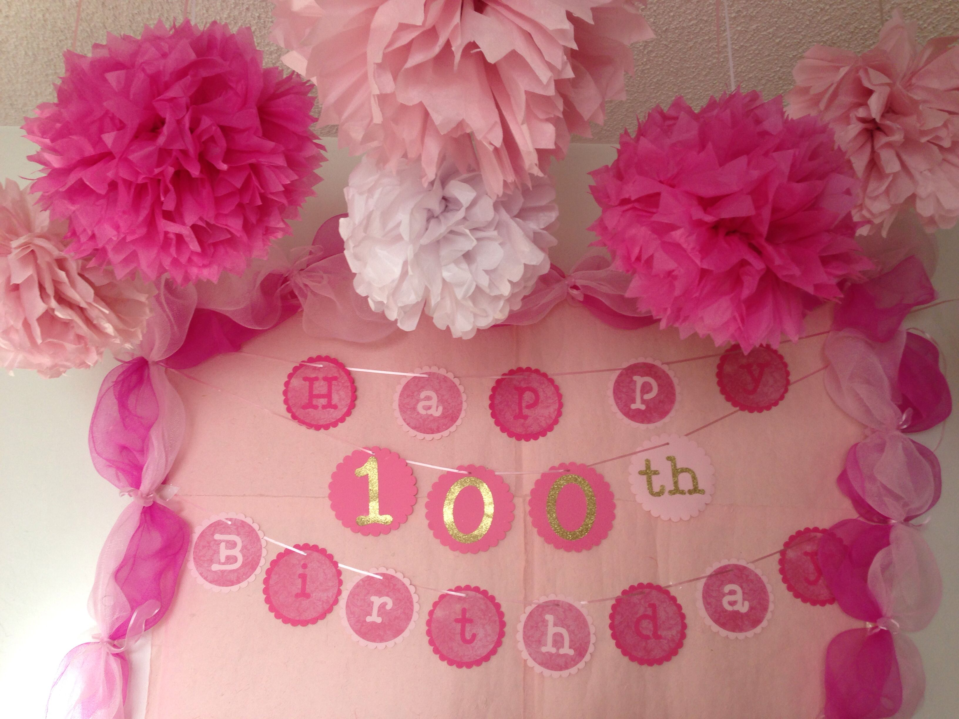 Grandma 39 s 100th birthday decoration bubba 39 s 90th party for 100th birthday decoration ideas