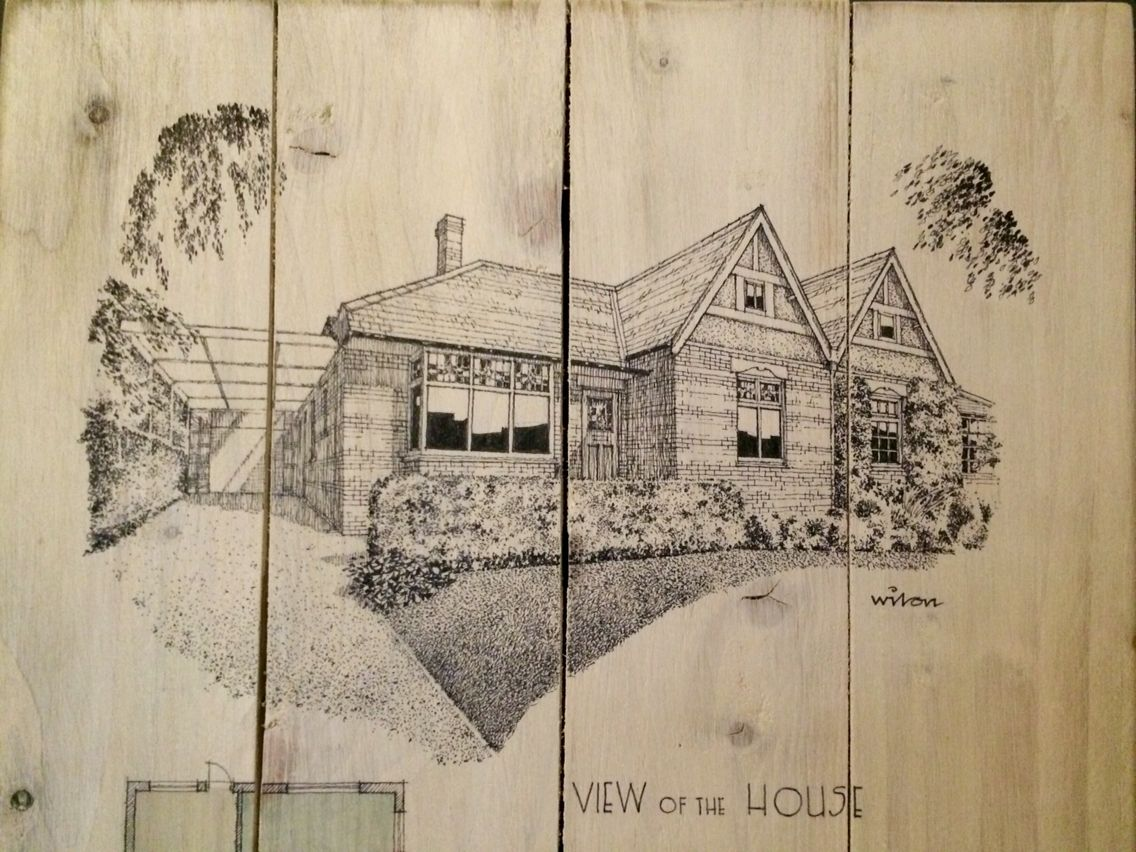 Elegant Architectu0027s Hand Drawing Of The House #architecture #bungalow #pen #sketch # Drawing
