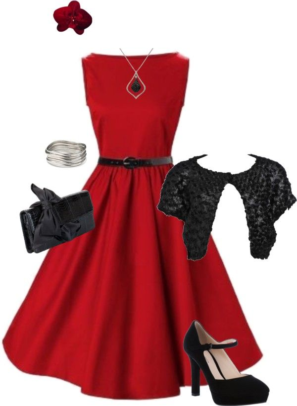 """""""Hepburn Red"""" by modestlystylish ❤ liked on Polyvore"""