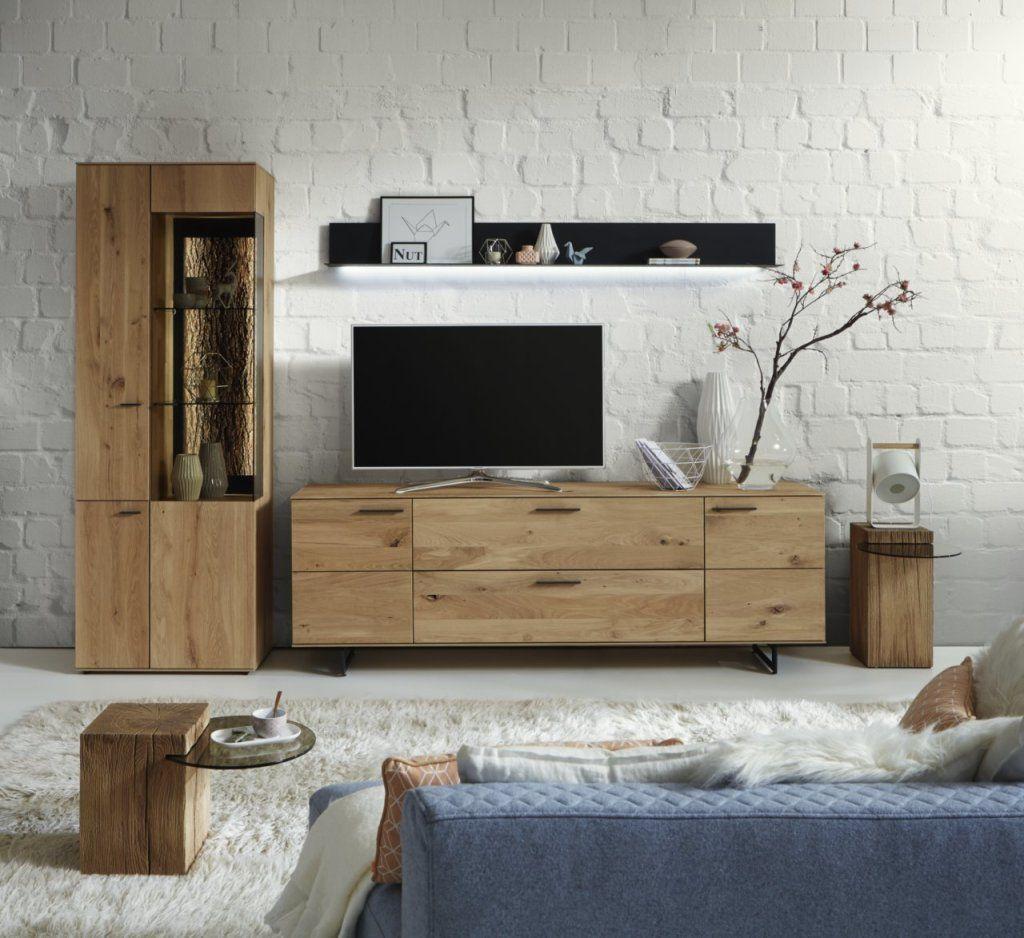 Hartmann Wohnwand Wohnmöbel Holz Kerneiche massiv