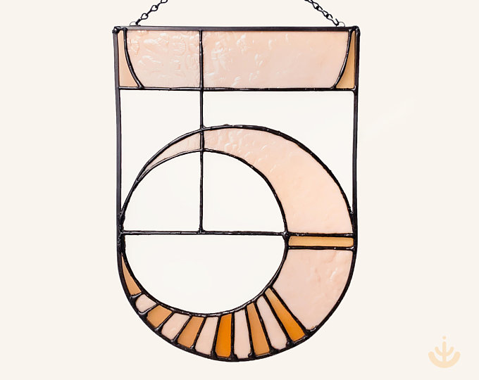Modern minimalist stained glass designs for your space by TeHaus