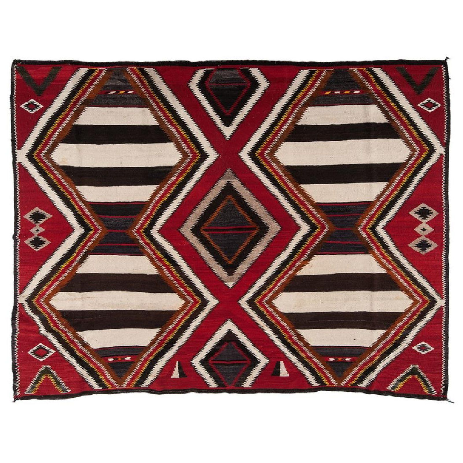 Navajo Red Mesa Outline Third Phase Chief S Blanket Apr 06 2018 Cowan S Auctions In Oh In 2020 Western Art American Indian Decor Navajo
