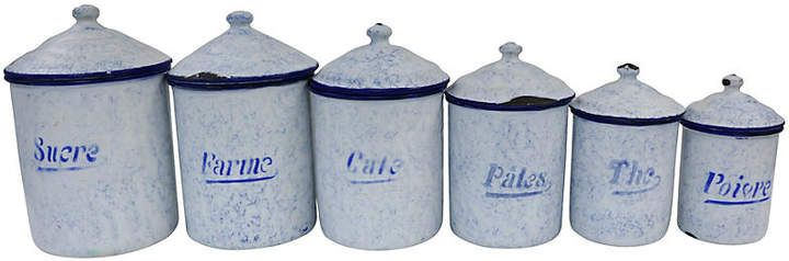 French Enamel Kitchen Canisters S 6 In 2019 Products