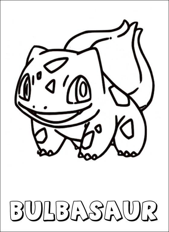 Pokemon coloring page Bulbasaur | Coloring pages | Art ...