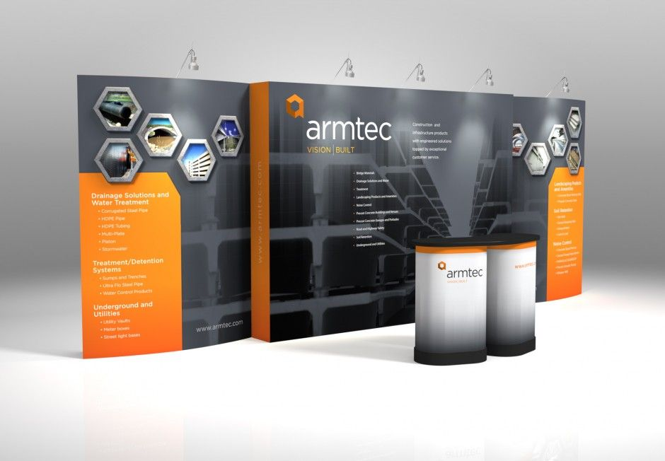 Trade Show Booth Graphic Design : The orange and grey look nice together tradeshow trade show
