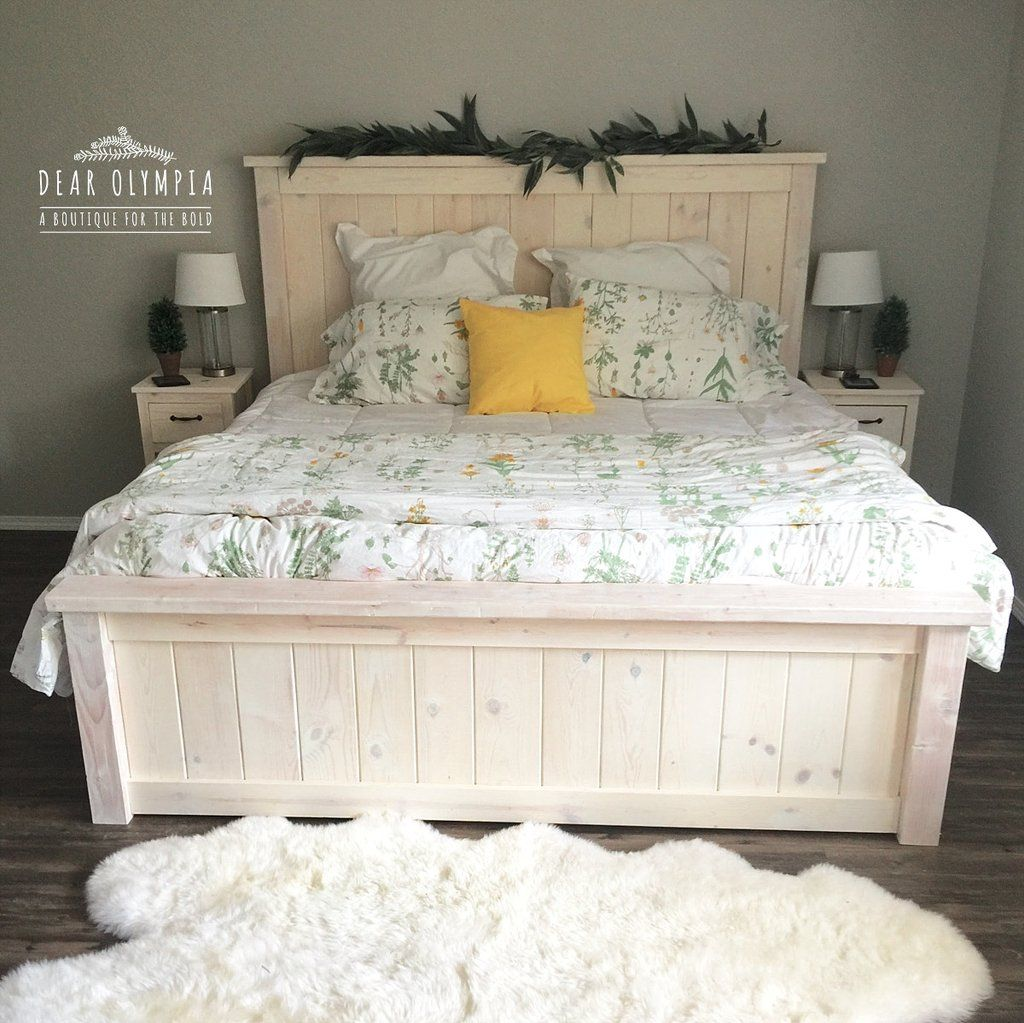 My White Wood Stained Farmhouse Bedroom Set Farmhouse