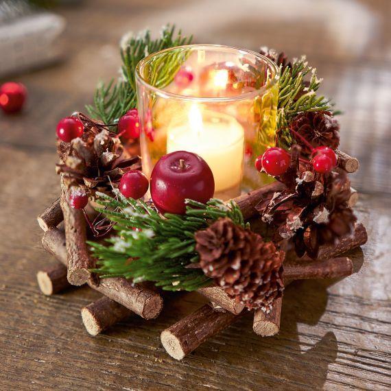 Windlichtgesteck Traditional Christmas