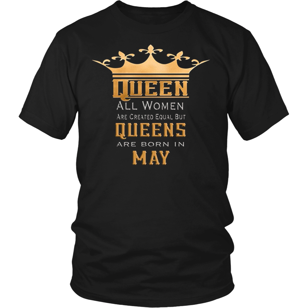 0770464e8 Queens Born in May Birthday Month Tshirt for Women TShirt   Birthday ...