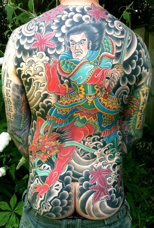Dan Gilsdorf Specializes In Bold Solid Work Rooted In The Time Honored Traditions Of Classic American And Japanes Atlas Tattoo Asian Tattoos Body Suit Tattoo