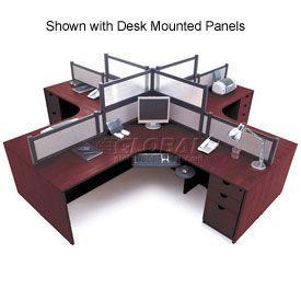 Storlie 4 Person L Desk Workstation Without Panels In 2019 Cbt