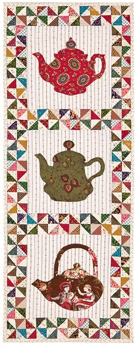 Pinwheels and Tea quilt by Kay MacKenzie | Quilt Puppy