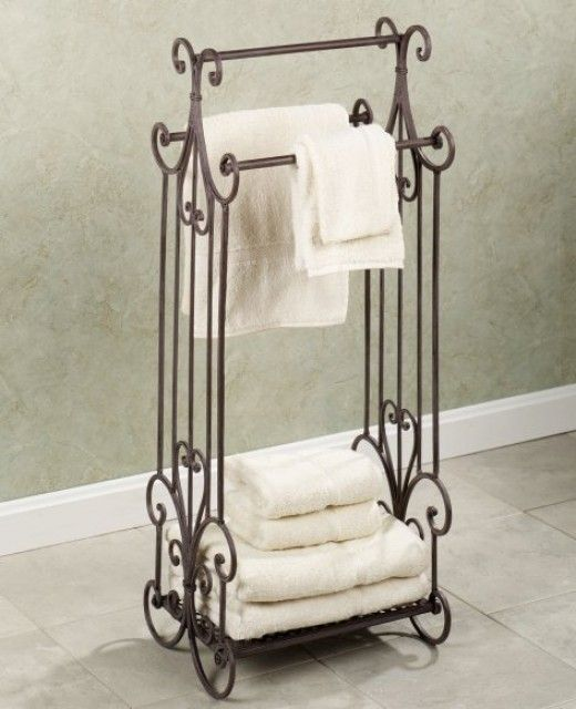 Freestanding Towel Rack Can Help Save Space Metal Towel Racks Towel Rack Towel Rack Bathroom