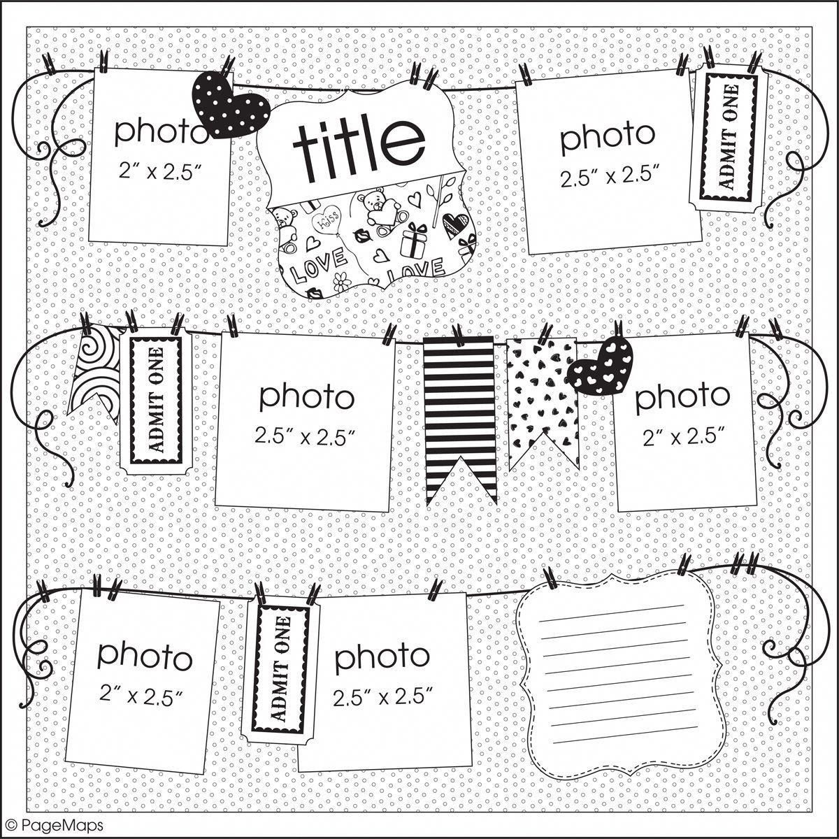 Scrapbook Sketches And Layouts Scrapbook Layout Layouts