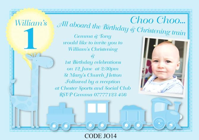 Awesome Free Template First Birthday And Baptism Invitations