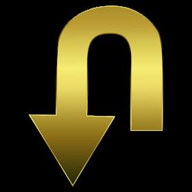 Arrow Icon Gold Tumblr Tapeter Tapet