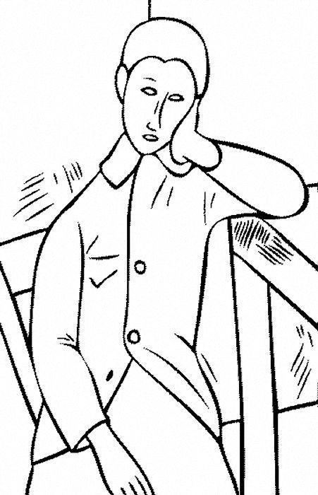 Modigliani | Library crafts: Coloring | Pinterest | Colorear ...
