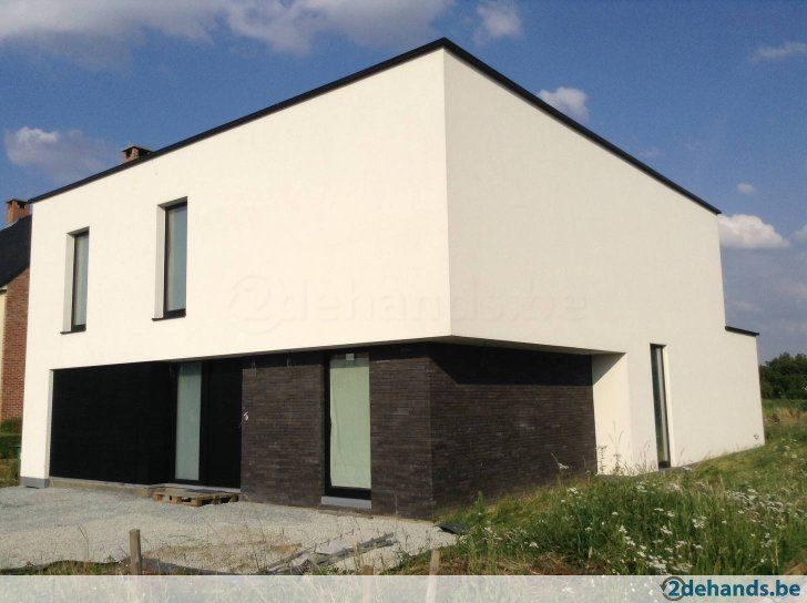 Nieuwbouw 4 gevel villa in witte crepi in hever exterieur pinterest exterior and house - Decoratie exterieur gevel ...
