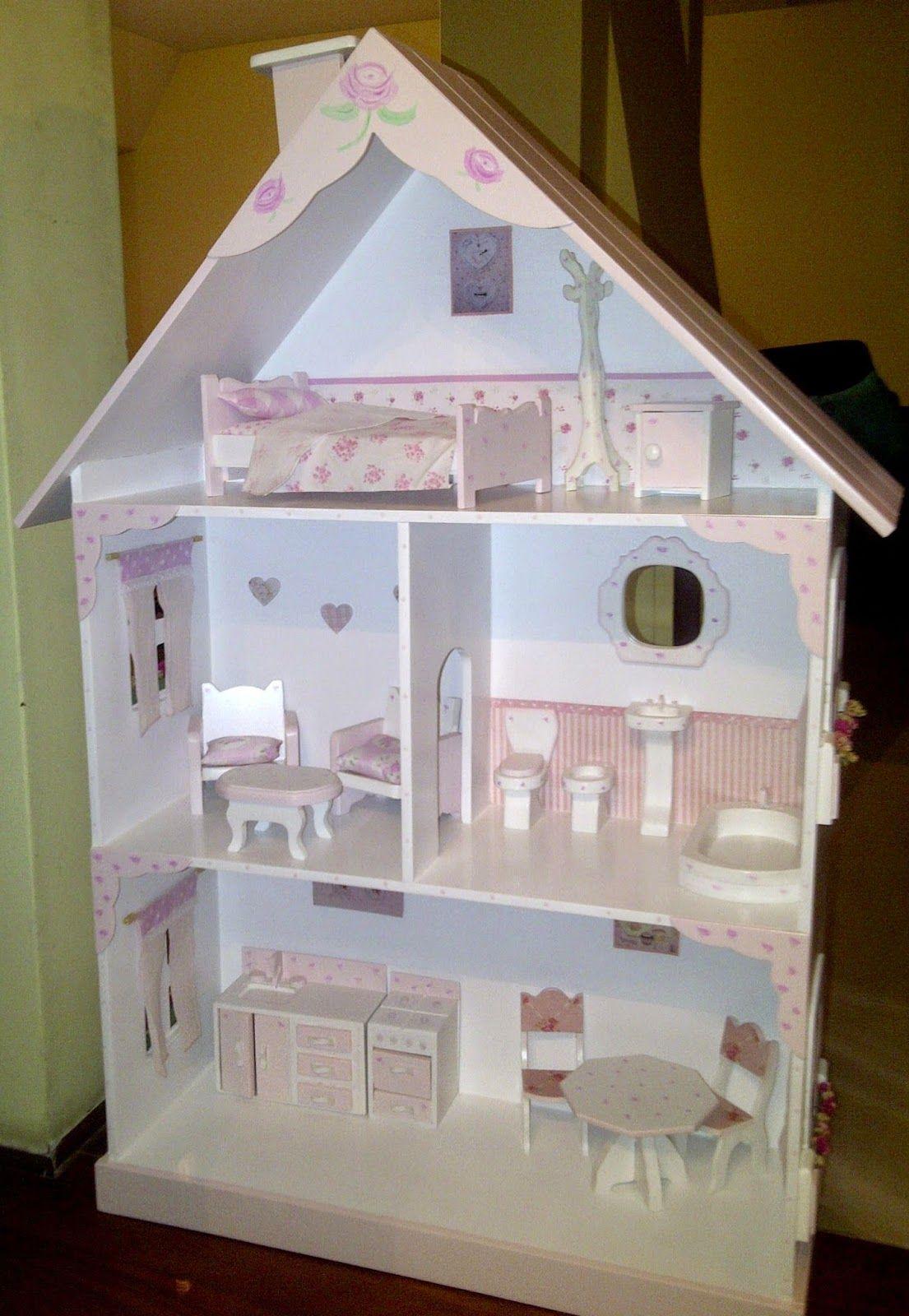 Diseño Y Decoración De Interiores Casita De Muñecas Shabby Chic Casa De Muñecas Casa De Muñecas De Madera Muebles De Palillos