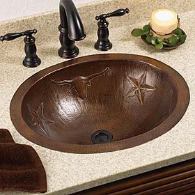 Longhorn sink create a unique setting in your home with for Bathroom mirrors san antonio