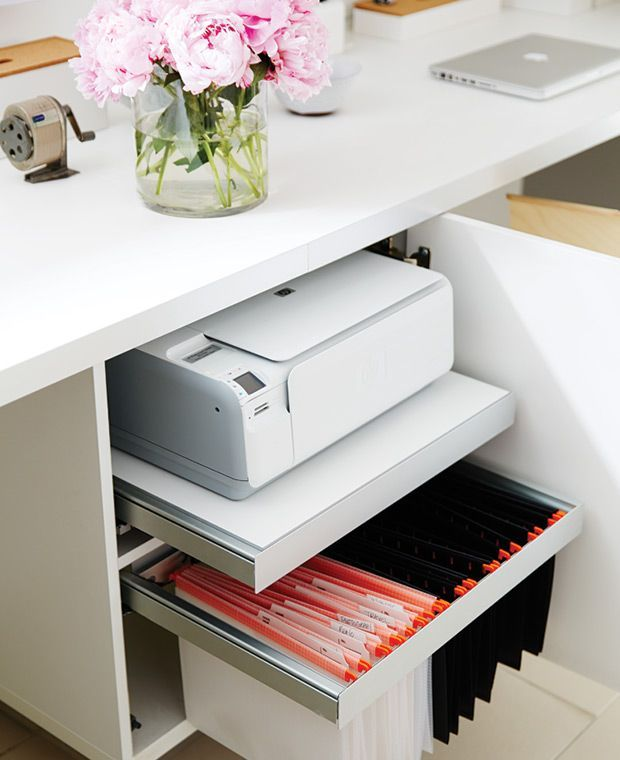 Small Officedesk Decorating: Before & After: A Young Family's Basement Makeover