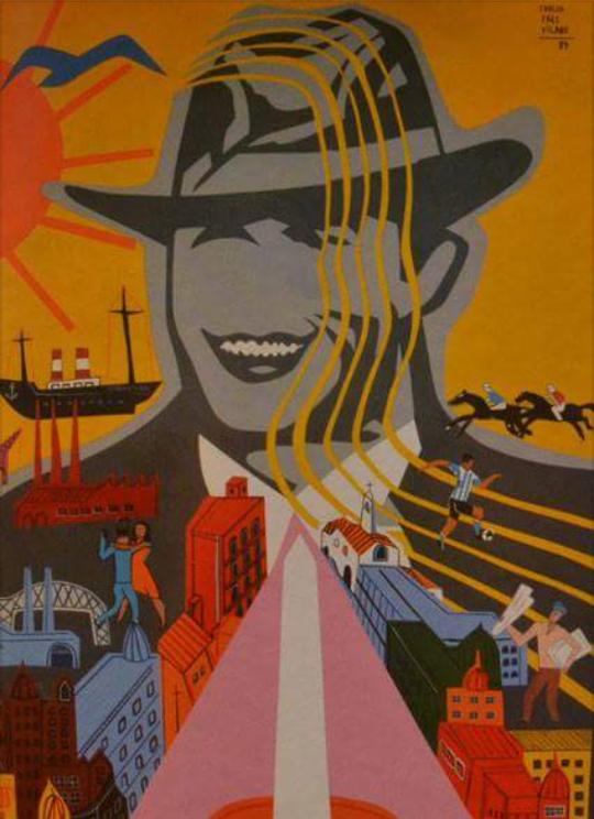 """""""Mi Buenos Aires querido"""", homenaje a la ciudad en Av Figueroa, Alcorta, Caba. 1989.  #CarlosPáezVilaró"""