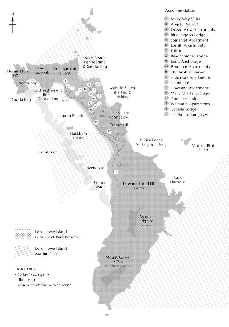 Lord Howe Island Map Lord Howe Island Map | My Island Home | Cairns queensland, Island