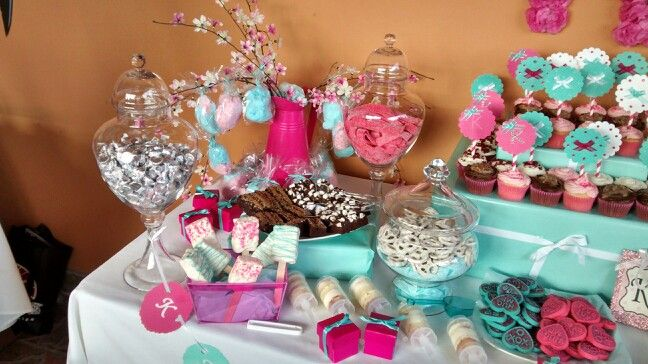 Tiffany Themed Baby Shower Blaque Iris Catering And Events