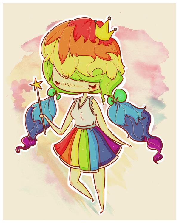 rainbow queen by agusmp.deviantart.com on @deviantART