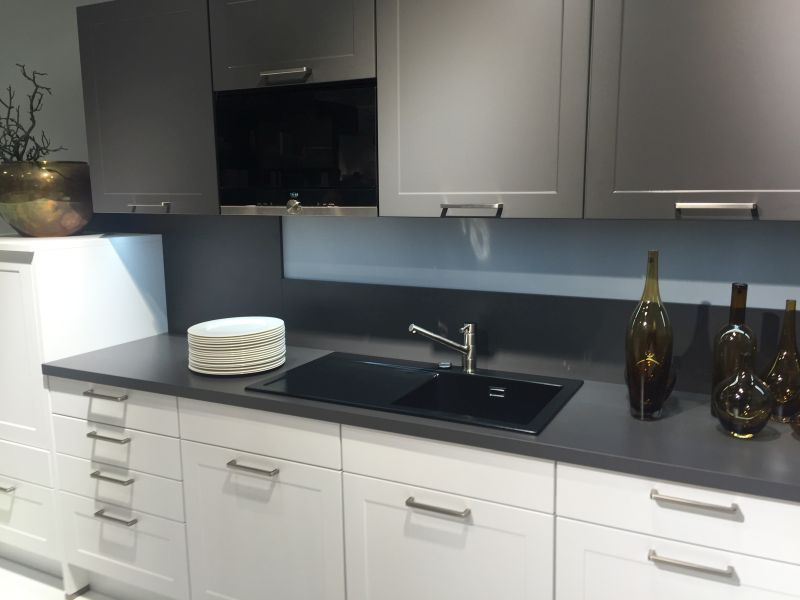 Gray and black kitchen design #DifferentBacksplashIdeas Different