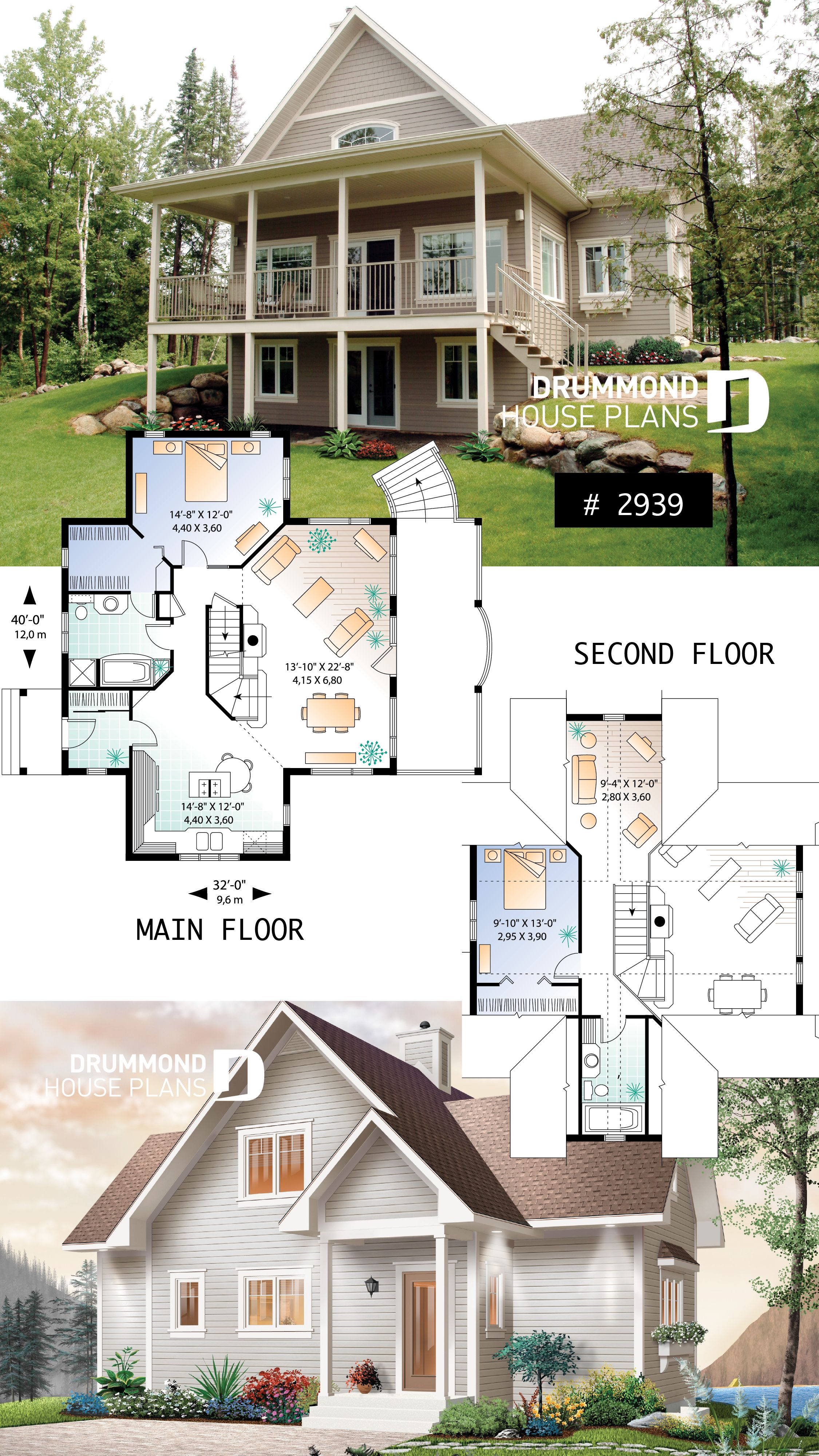 Discover The Plan 2939 Vistas Which Will Please You For Its 2 Bedrooms And For Its Cottage Chalet Cabin Styles Cottage House Plans House Plans House Plans With Photos