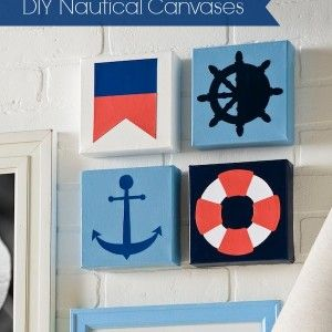 DIY nautical inspired canvases