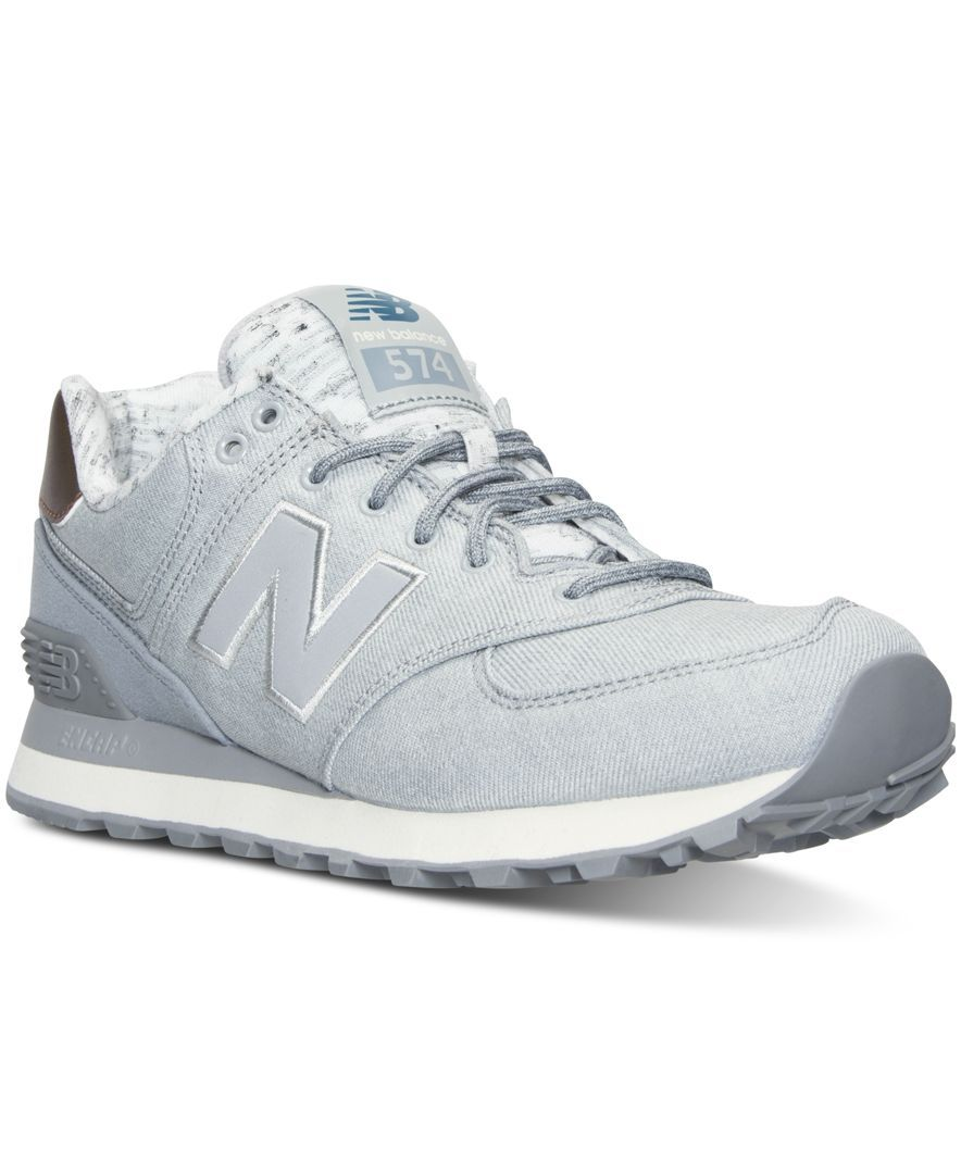 New Balance Women's 574 Heathered Casual Sneakers from Finish Line ...