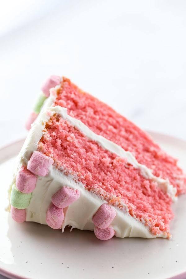 Easy Gluten-Free Strawberry Cake Recipe. Perfect for birthdays!