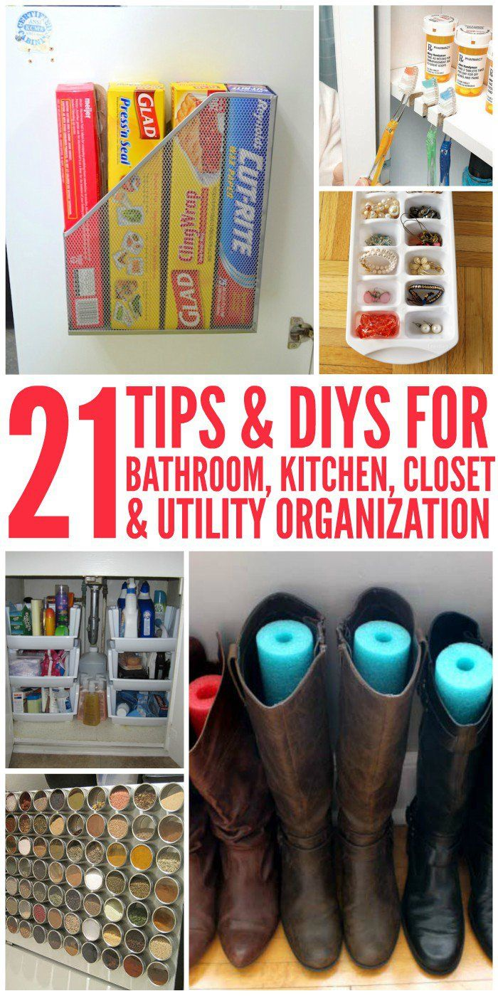 21 Tips and DIY Organization Ideas for the Home Diy
