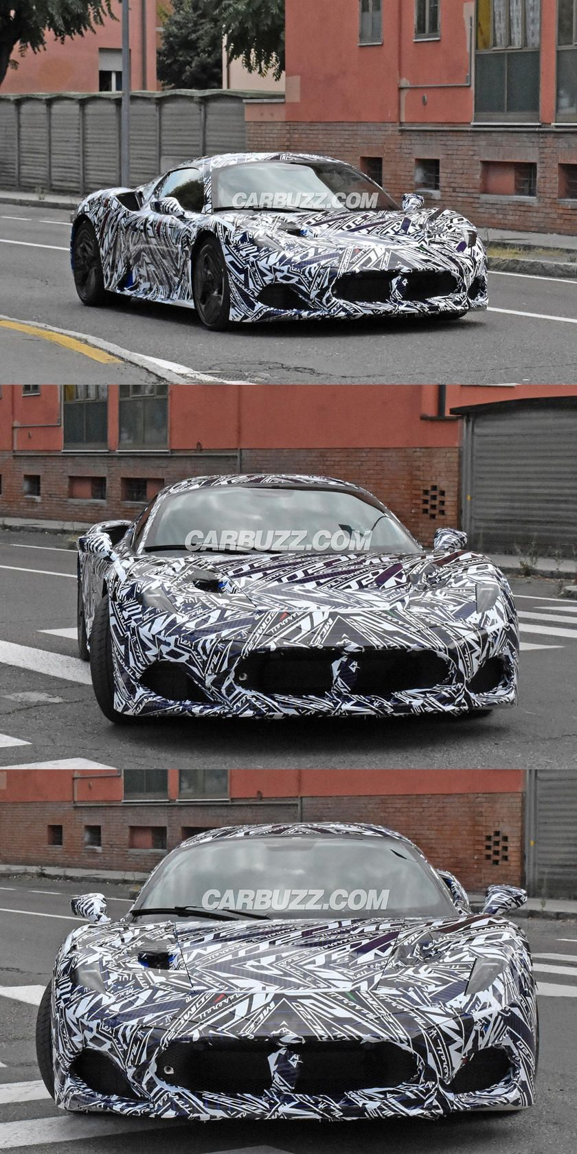 Maserati S New 620 Hp Supercar Looks Ready For Business Maserati S New Halo Supercar Will Debut On September 9 In 2020 Super Cars Maserati Twin Turbo
