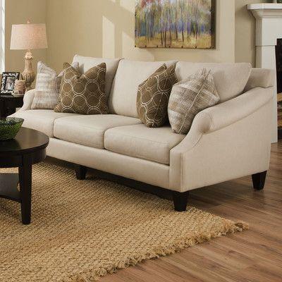 Bauhaus Molly Extra Long Pique Flax Sofa U0026 Reviews | Wayfair