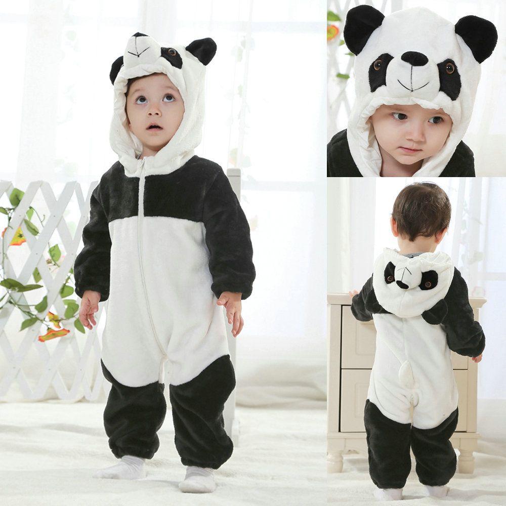 bec47b043f7f Panda animal Flannel baby kigurumi onesie costume