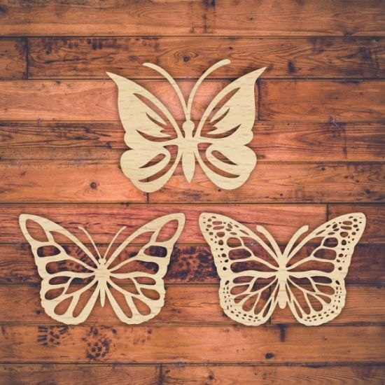 Butterfly template for laser cutting. Vector online store. Free ...