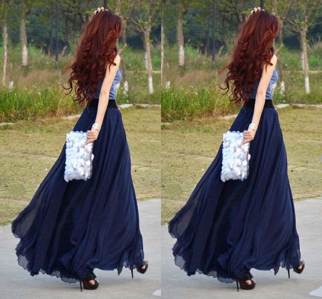 Long skirts in the floor - the trend of the spring-summer season 27