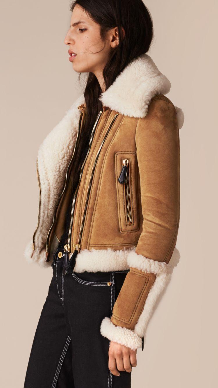 Shearling Biker Jacket Leather Jacket Style Shearling Jacket Women S Coats Jackets [ 1334 x 750 Pixel ]