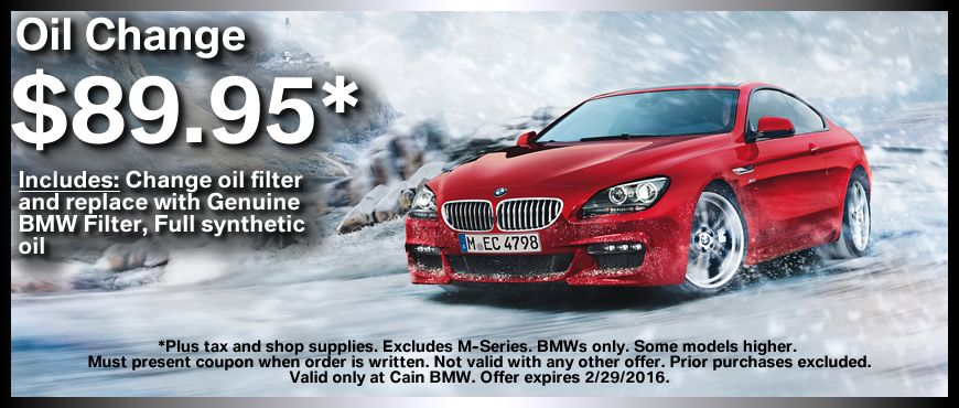 Time For An Oil Change Use This Coupon To Receive A Full Synthetic Oil Change For Only 89 95 Oil Change Bmw Oil Filter