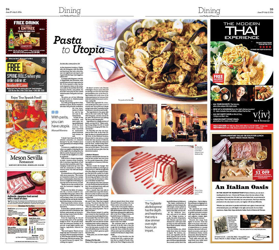 Da Marcella A True Tavern In New York City Epoch Times Newspaper Editorialdesign Yummy Food Food Restaurant